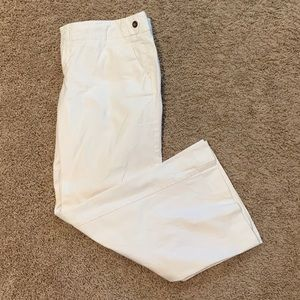 GAP White Ankle Stretch Pants